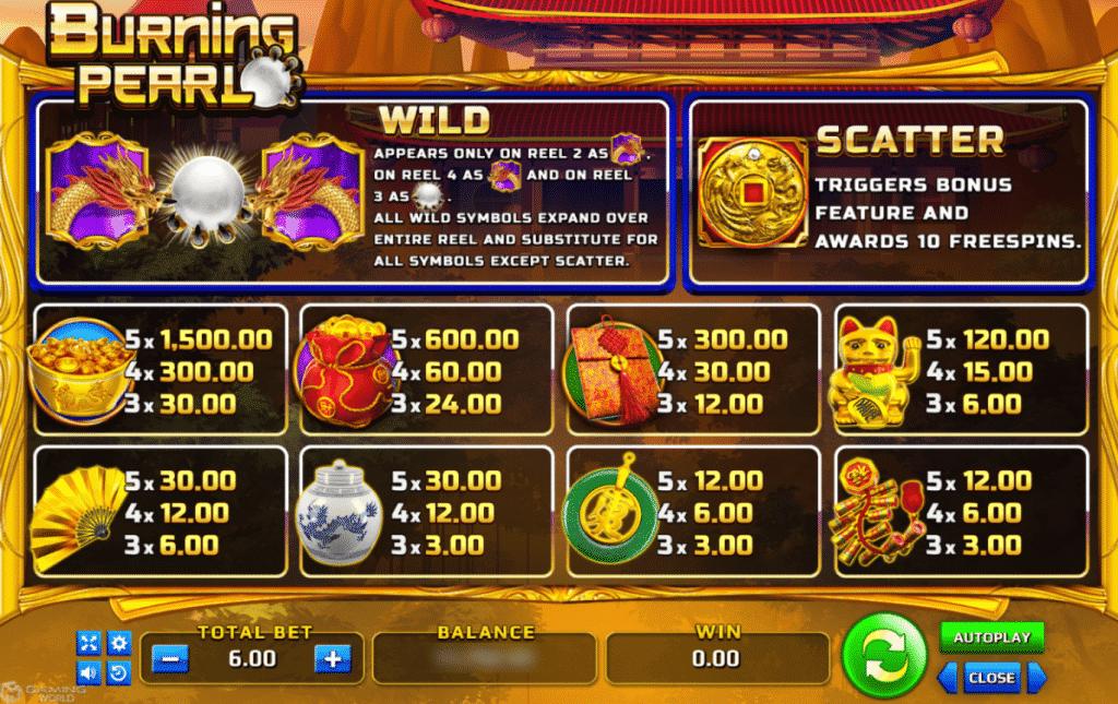 Burning Pearl - Slotxogame365 รับเครดิตฟรี 100% 50% ทันที